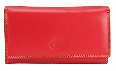 New Ladies Soft Leather Large Purse/Wallet Colours Flap Inner Zip High Quality