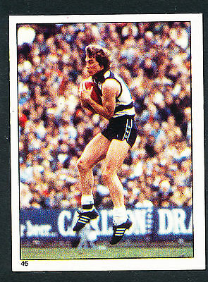 Scanlens 1984 Sticker No. 45 Murray Witcombe Geelong Cats