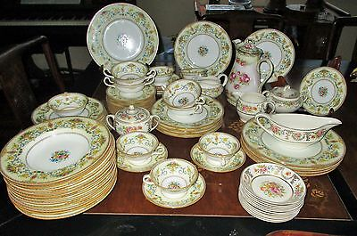 Antique Minton Talbot Rose B1124l Dinner 82 pc Mixed set Plate cup Saucer Teapot
