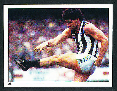 Scanlens 1984 Sticker No. 25 Mark Williams Collingwood Magpies