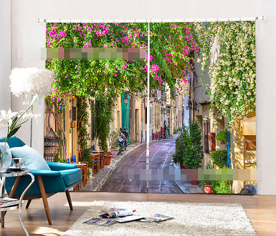 3D Town Alley 6 Blockout Photo Curtain Printing Curtains Drapes Fabric Window CA
