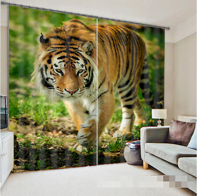 3D Gentle Tiger Blockout Photo Curtain Printing Curtains Drapes Fabric Window CA