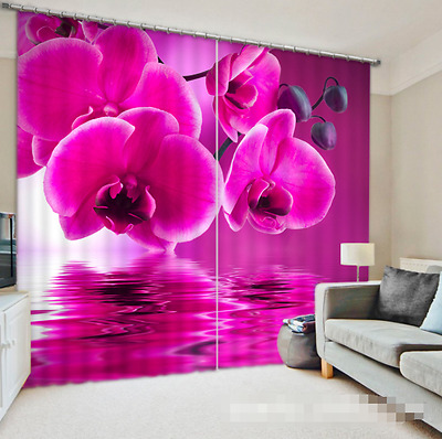3D Flowers 586 Blockout Photo Curtain Printing Curtains Drapes Fabric Window CA