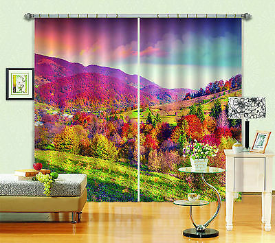 3D Mountains 07 Blockout Photo Curtain Printing Curtains Drapes Fabric Window CA