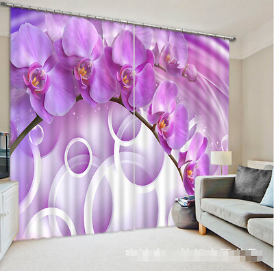 3D Flower Squid Blockout Photo Curtain Printing Curtains Drapes Fabric Window CA