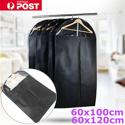 Garment Dustproof Cover Storage Bags Clothes Suit Coat Dress Jacket Protector AU
