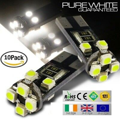 10x T10 W5W 501 Wedge CanBus LED No Error Free HID 6000K White Bulbs Side Lights