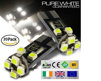 20x T10 W5W 501 Wedge CanBus LED No Error Free HID 6000K White Bulbs Side Lights