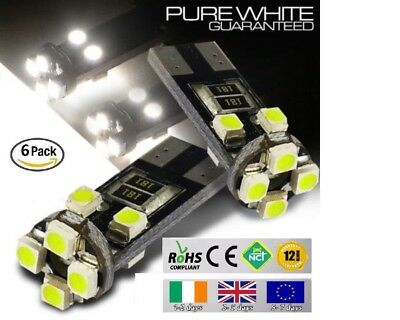 6x T10 W5W 501 Wedge CanBus LED No Error Free HID Xenon White Bulbs Side Lights