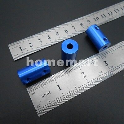 5-100PCS BLUE NEW Aluminum alloy Coupling Coupler 3MM 4MM 5MM 6MM 6.35MM 7MM 8MM