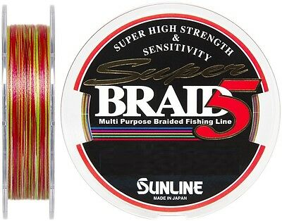 Sunline Super Braid 5 PE 200m Braid Color Coded Choose Breaking Strain THIN New