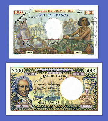 Reproductions Lots of 3 notes TCHAD 1000...10000 Francs