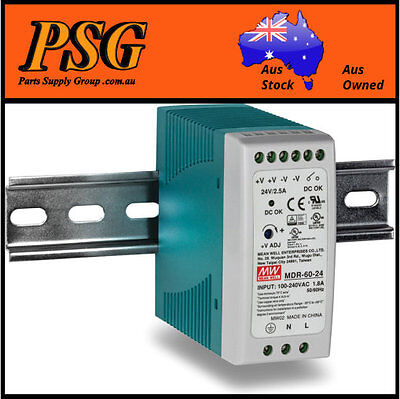 MDR-60-24 / MDR-60-5 / MDR-60-12 / MDR-60-48 MEAN WELL - DIN Rail Power Supply