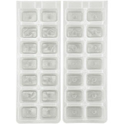 Chef Aid Ice Cube Plastic Trays (Set of 2) Brand New High Quality Fast Postage