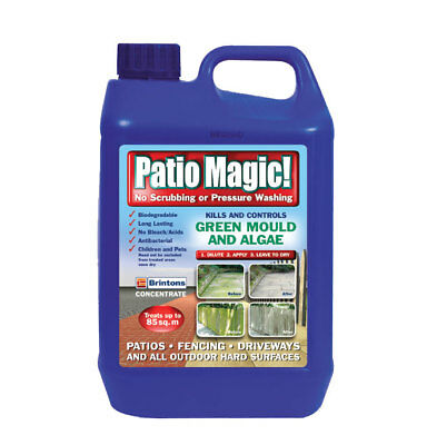 Patio Magic! Patio Cleaner Driveway Cleaner  5L Litre Coverage: 170m2