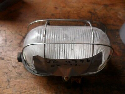 Retro Steam Punk Industrial Wire Meshed Bulkhead Light Lamp 240v TGL24506