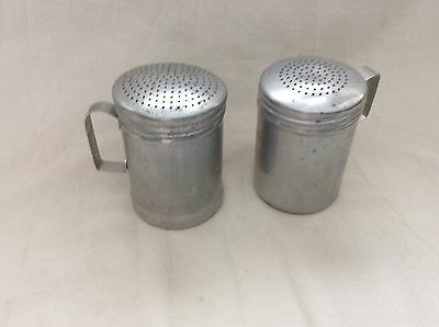 vintage range aluminum salt and pepper shakers