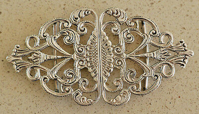 Hallmarked Solid Silver Nurses Buckle - Birmingham 1970 by John Rose - 30.5g