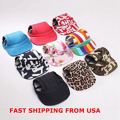 Summer Small Pet Dog Cat Baseball Visor Hat Outdoor Sunbonnet Canvas Puppy Cap
