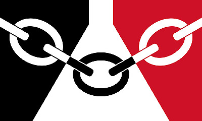 5 feet x 3 feet BLACK COUNTRY FLAG with EYELETS caravan camping motorhome boat