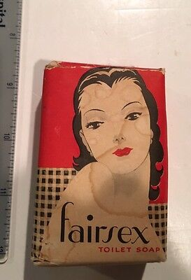 Vintage 1940's Era Soap Bar with Nice Graphics