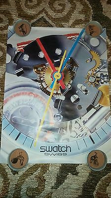 Vintage 1980s Swatch Swiss Watch Promo Givaway Poster