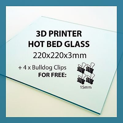 220mm x 220mm x 3mm 3D PRINTER GLASS for Hot bed Anet A8 Tronxy Reprap Prusa i3