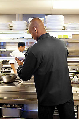 Chef Works Calgary Cool Vent Basic Chef Coat Jlls - Blk