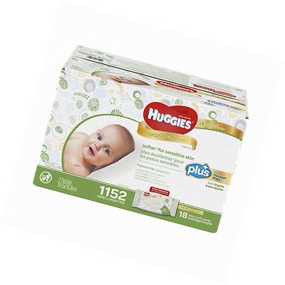 Huggies Natural Care Plus Baby Wipes 1 152-count
