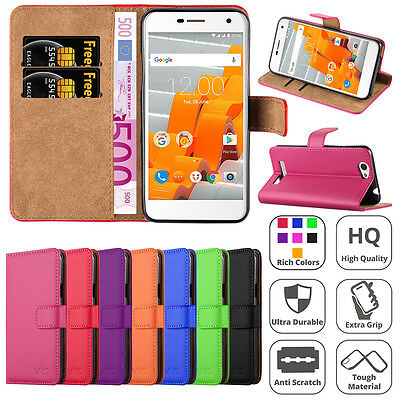 Wileyfox Spark Plus Case, Wallet Pouch Leather Book Flip Card Case Cover