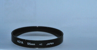 HOYA MACRO CLOSE-UP FILTER SET.  55mm  +1 +2 AND +4 JAPAN WITH CASE