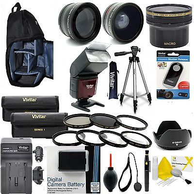 Canon Eos Rebel T6 T6I Everything You Need Professional Lens Filter Flash Kit