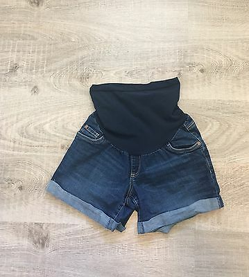 Indigo Blue Maternity Jean Denim Shorts M Secret Fit Belly
