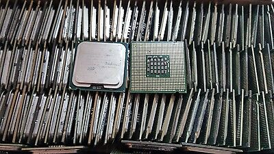 Lot of 150 Intel Dual Core and Pentium 4 Computer CPU's For Scrap Gold Recovery