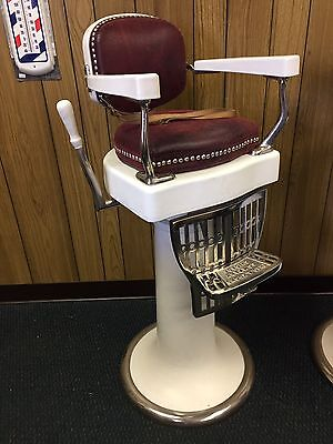 Antique Child's Barber Chair By Koch