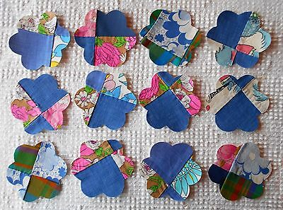AA53 Iron On Sew On Appliques from Modern Cutter Quilt Blocks Set of 12 Fish