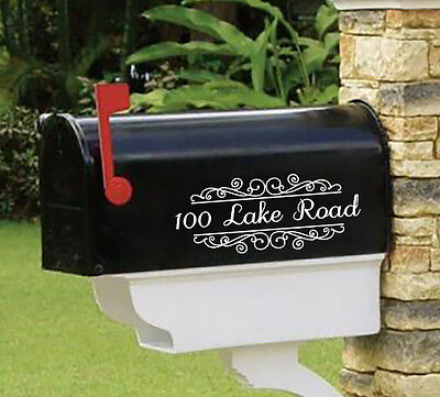 """Personalized SET OF 2 vinyl mailbox decals! 4"""" X 10"""" MAI-00002"""