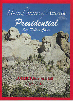 United States of American Presidential One Dollar Coins Collectors Folder NEW