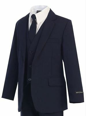 Navy - Slimmer Fit Boys Suit - New Kids Formal Wear - Sizes 2T to 20