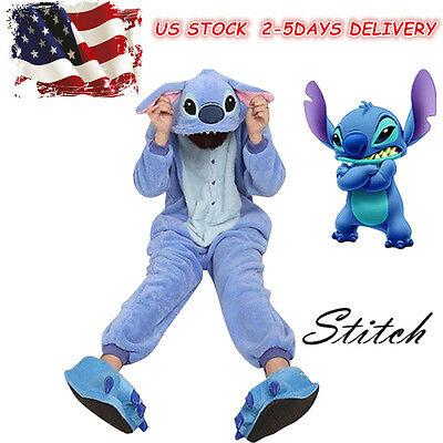 Stitch Cosplay Costume Fancy Dress Animal Pajamas Women Kigurumi Sleepwear