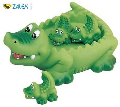 Mama and Baby Alligator Family With Bath Toy Floating Fun For Baby and Toddler