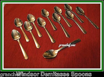 Demitasse Spoons - Windsor Pattern ~24 pieces ~ New In Boxes - Stainless Steel