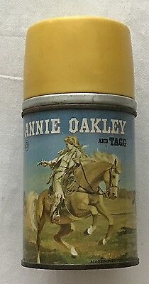 Annie Oakley And Tagg  Metal Thermos Bottle  C. 1955  Aladdin
