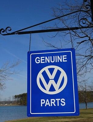 Old Style Volkswagen Vw Dealer Genuine Parts Car Thick Steel Sign Made In Usa!