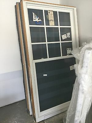 NEW TWO (2) EAGLE Double Hung White Windows W/Screens By Anderson