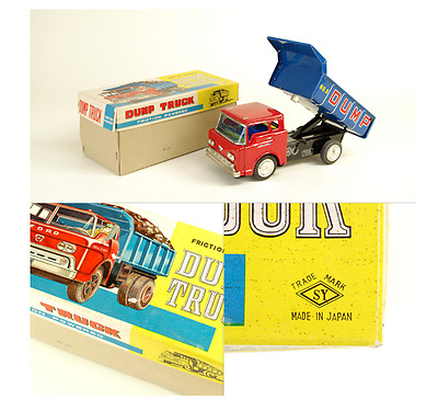 Tin Toy Dump Truck Yoneya Made in Japan Vintage with Box JAPAN F/S 453