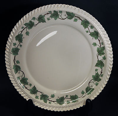 """Set of 7 Royal Gadroon Ivy HARKER POTTERY 10 1/4"""" Beaded Trim Dinner Plates"""