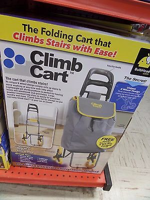 Telebrands Climb Cart shopping cart dolly climbs stairs with ease w/ jumbo bag