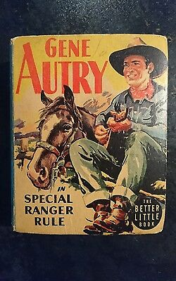 Big Little Book Western #1456 Gene Autry in Special Ranger Rule (Whitman1945) FN