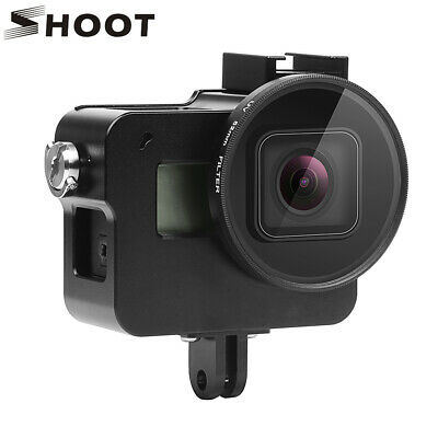 Black CNC Aluminum Alloy Protective Case Skeleton Housing for GoPro Hero 6 5